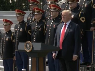 """President Donald Trump holds a """"Celebration of America"""" ceremony at the White House on June 5 in lieu of hosting the Super Bowl champion Philadelphia Eagles, a day after rescinding the team's invitation."""