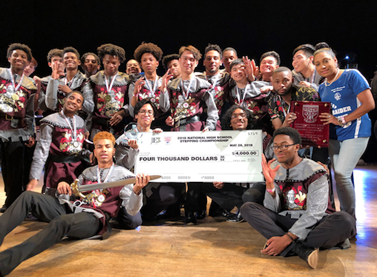 The Dem Raider Boyz stepping squad recently took top prize at the National High School Stepping Championship in Newark, N.J. (Courtesy of PGCPS)