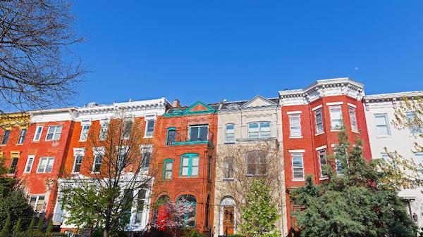 A neighborhood in D.C.'s historic Shaw neighborhood where many millennials seek homeownership. (Courtesy of Shutterstock)