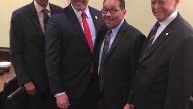 From left: LAUL President Nolan Rollins, National Urban League President Marc Morial, Council member Herb Wesson, John Mack (Courtesy of Los Angeles Urban League)