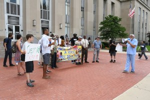 Citizens protest unsafe living conditions at DC Central Cell Block. (Courtesy photo)