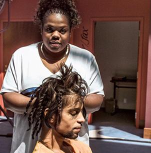 Prince with longtime hairstylist Kim Berry (Courtesy photo)