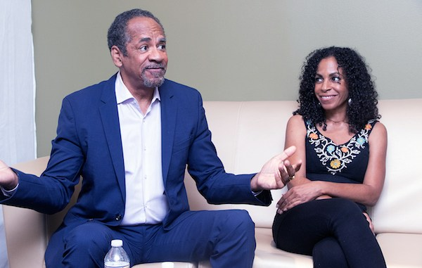 Actor, producer and director Tim Reid with his daughter Tori talks to The Washington Informer about his cable television project that will showcase the worldwide accomplishments of Black people. (Shevry Lassiter/The Washington Informer)