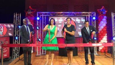 **FILE** D.C. Mayor Muriel Bowser (second from right) participates in the launch of the city's first government radio station, in partnership with WHUR, in a 2017 ceremony. (Courtesy of the mayor's office via Twitter)