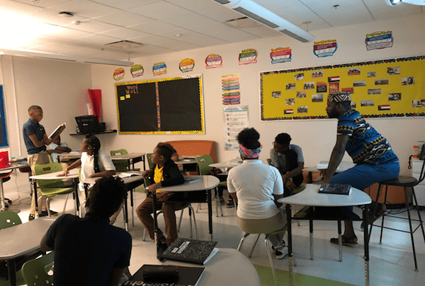 Monument Academy PCS English language arts teacher Charles Williams teaches his students to reach heights they never believed were attainable. (Courtesy of Monument Academy PCS)