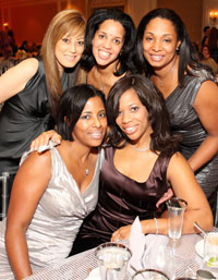 Nancy Koide, Brynee Baylor, Dawn Jackson, Cynthia Anderson and Charisse Jackson