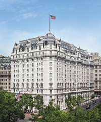 The second Willard  Hotel, completed in 1904, occupies  a prime spot near the White House on Pennsylvania Avenue. (Photo courtesy of the hotel)