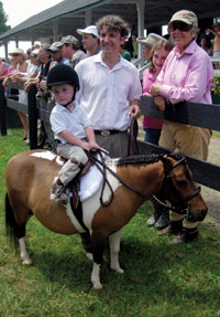 Billy, William and Mary Swift at the Upperville Colt and Horse Show.