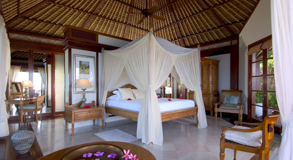 The villas each have a separate sitting and dining area, three showers, and 24 types of pillows.