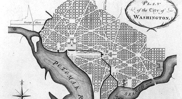 The Original District plan drawn by L'Enfant