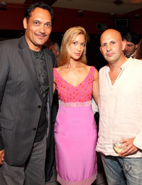 Jimmy Smits, Miss D.C. 2008 Kate Marie Grinold, and Mauricio Fraga-Rosenfeld