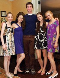 Dancers Kristen Segin, Sara Adams, Mark Wax, Grace McLoughlin, and Lydia Wellington