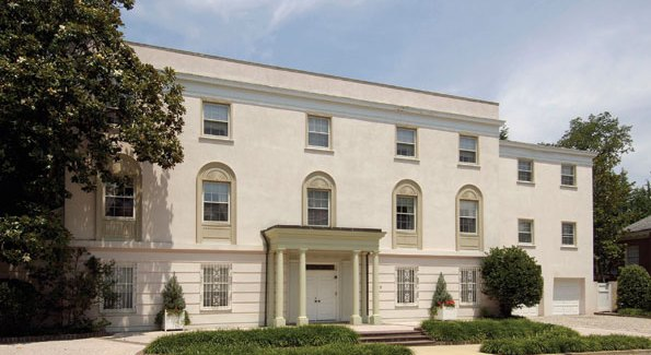 """The gorgeous twenty-five acre """"Bellapais,"""" estate at 8303 E. Boulevard drive in Alexandria is again being occupied."""