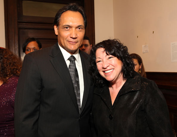 Jimmy Smits and Justice Sonio Sotomayor, Photo by Tony Powell