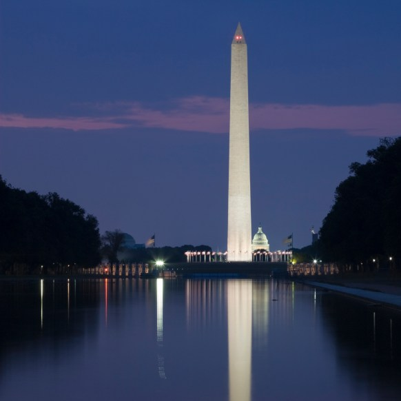 Reflecting Pool at night