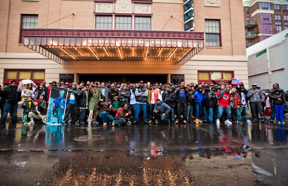 Historic DMV Hip Hop photoshoot at the Lincoln Theater on U Street. Photo by Anchyi Wei.