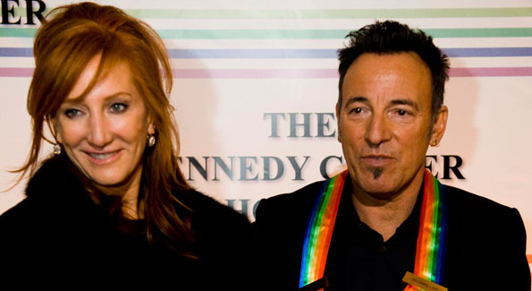 Honoree Bruce Springsteen with his wife Patti Scialfa