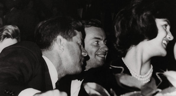 "Vidal calls this picture of himself with John and Jacqueline Kennedy  (""the actual photo of the three of us and how we were seated"") the  ""mystery story"" of his book. (Collection Gore Vidal)"