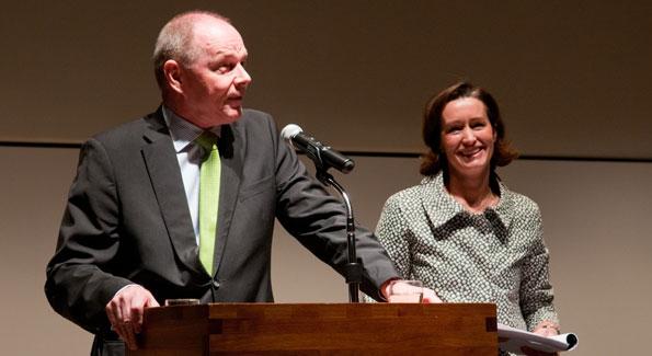 Ambassador Pekka Lintu and Laurel Colless. Photo by Vincent Gallegos.