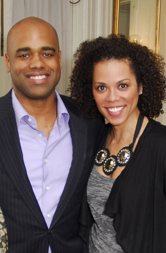 YGL'ers Jamal Simmons and Amy Holmes. (Photo By Kyle Samperton)