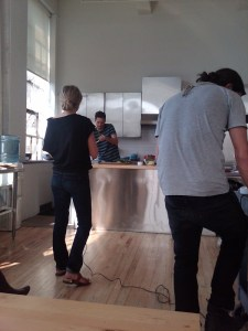 Twitpic: Good Stuff Eatery's Spike Mendelsohn on set of Food & Wine shoot