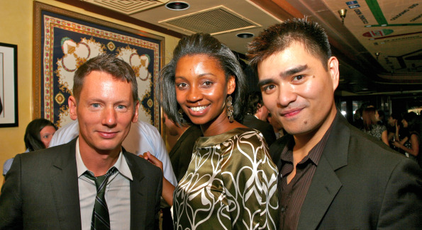 Helena Andrews with GQ Editor Jim Nelson and Jose Anotnio Vargas