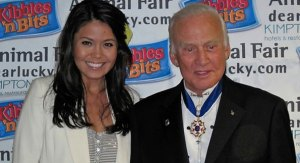 Angie Goff and Buzz Aldrin