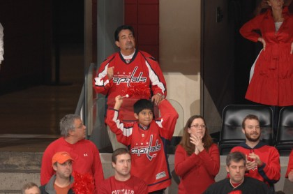 Ted Leonsis cheering on the Capitals