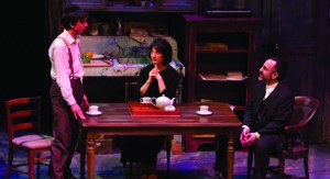 Alexander Strain, Lise Bruneau, and Adam Heller in Round House Theatre's My Name Is Asher Lev. Photo by Matt Urban.