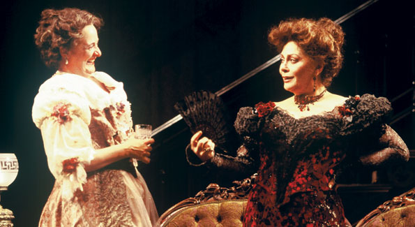 Nancy Robinette as Birdie Hubbard and Elizabeth Ashley as Regina Giddens in the Shakespeare Theatre Company's 2002 production of Lillian Hellman's The Little Foxes, directed by Doug Hughes. Photo by Richard Termine.