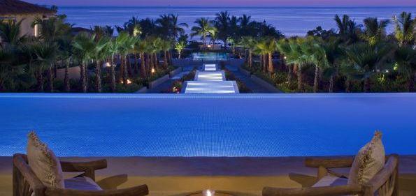 The Altamira Bar and reflecting pool at the St. Regis Punta Mila on Mexico's Rivera Nayarit