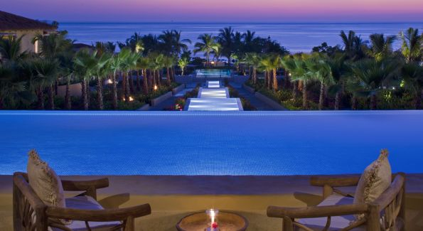 The Altamira Bar and reflecting pool at the St. Regis Punta Mila on Mexico's Rivera Nayarit