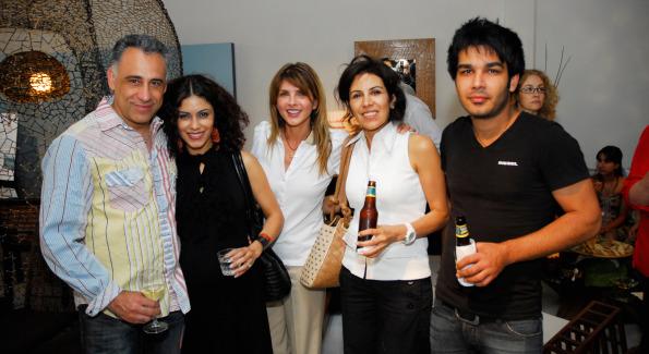 Hamid Kazemi, Kathy Jalali, Natalie Baratpou, Marjan Roshankar, and Amir Roshankar. Photo by Kyle Samperton