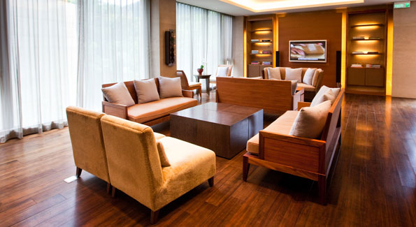 The lounge of the spa. (Photo by Anchyi Wei)