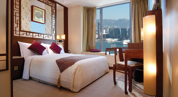 Guest room at the Lan Kwai Fong Hotel