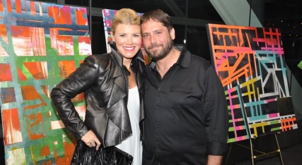 Drew Nussbaum with his wife Meredith. Photo by Michael Kirby Jr