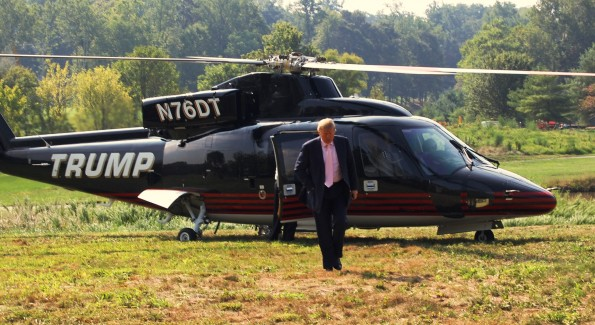 The Don arrives at Trump National Gold Course is Virginia. Photo by John Arundel/Washington Life