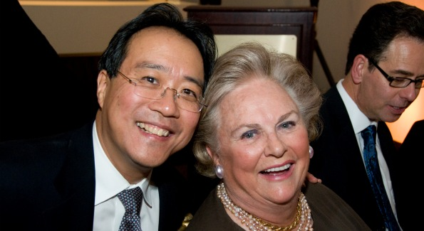 Yo-Yo Ma with Jacqueline Badger Mars. Courtesy of Jeremy Norwood Photography.