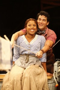 Eleasha Gamble as Laurey and Nicholas Rodriguez as Curly in the Arena Stage at the Mead Center for American Theater production of Rodgers and Hammerstein's Oklahoma! October 22-December 26, 2010. Photo by Carol Rosegg.