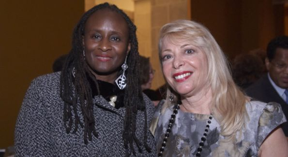 Ambassador Robin Sanders US Ambassador to Nigeria & Bernadette Paolo, President, The Africa Society. Image courtesy of NMAFA.