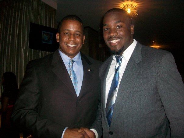 Darrell Gaston (right) with Congressman Kendrick Meek