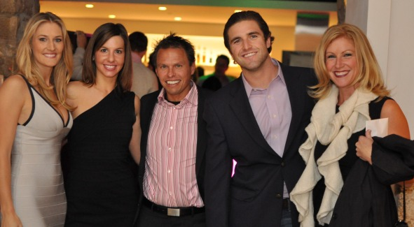 Tiffany Carter, Tara de Nicolas, friend, Steuart Martens and Jessica Gibson. Photo Courtesy of REVAMP.com.