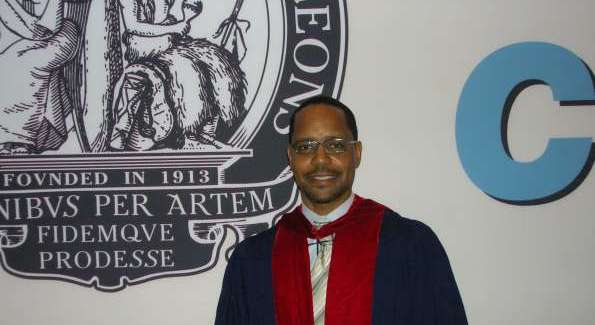 Dr. Harris upon being inducted as a fellow of the American College of Surgeons.