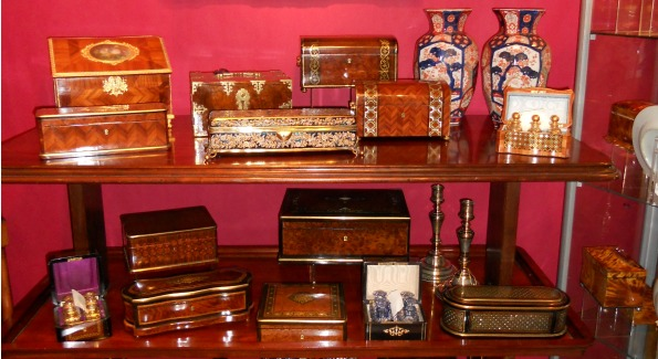 Sallea Antiques holds the largest collection of antique boxes in the United States.