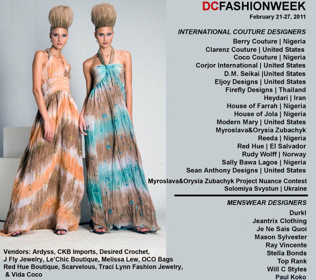 Fashionable Life: DC Fashion Week 2011 Event List | Washington Life
