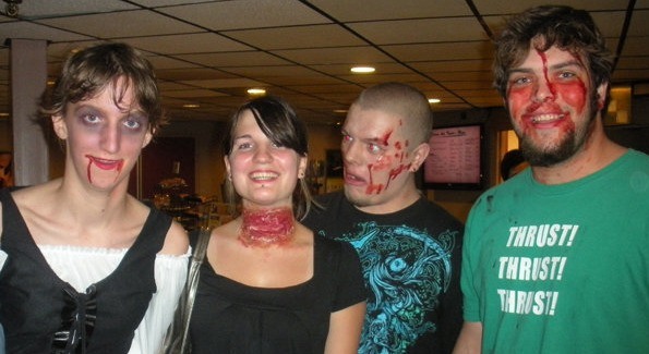 "Some ""spooky zombies"" at The International Spooky (photo courtesy of Curtis Prather, Spooky Movie)"