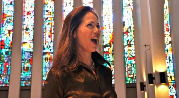 "Soprano Elizabeth Futral gave a jubilant rendering of  Bach's cantata ""Jauchzet Gott in Allen Landen."" (Photo by Beth Lewis)"