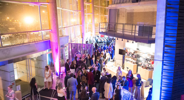 The multi-tiered Arena Stage made for a perfect venue for the approximately 700 guests that attended Monday's Young and the Guest List soiree. (Photo by Alfredo Flores)