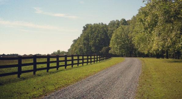 Driving into East Oaks Farm.
