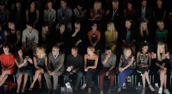 Fashion Week audiences (Photo by Luca Teuchmann/Getty Images)